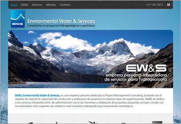 Página Web - Environmental Water Services